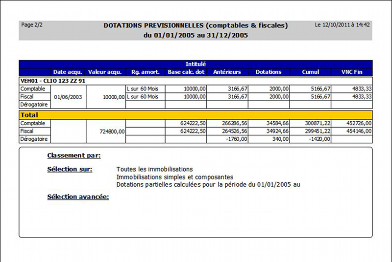 Logiciel logiciel d 39 immobilisations immobilisations par - Excel tableau d amortissement ...