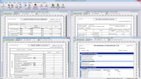 Logiciel comptabilité, Bilan actif, Bilan passif, Compte de résultat 2052, Compte de résultat 2053, SIG