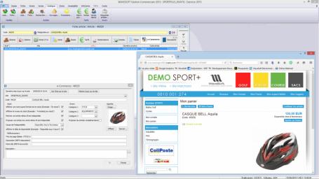 Logiciel Gestion commerciale, e-Commerce & Oxatis, gestion commerciale en connexion site marchand