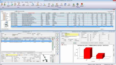 Logiciel Gestion commerciale, Multi-fenêtrage, MDI, espace de travail personnalisable, client/serveur, ergonomie intuitive
