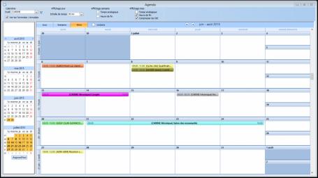 Logiciel de CRM, Agenda, planning, agenda partagé, planning des actions, planning des tâches, synchronisation Smartphone