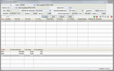 Logiciel Production, Prix de revient, ERP, suivi de production, OF, calcul des besoins nets
