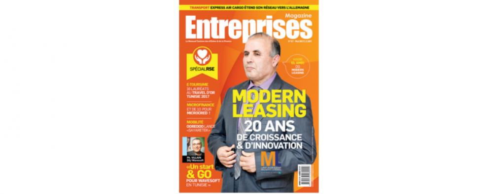 WaveSoft en couverture du magazine Entreprises Mai 2017 Tunisie