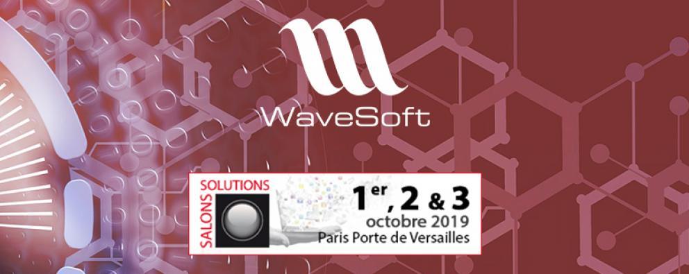 La V22 de WaveSoft à l'honneur lors du Salon Solutions d'Octobre 2019, stand n° G21-H22 en partenariat avec Percy Miller